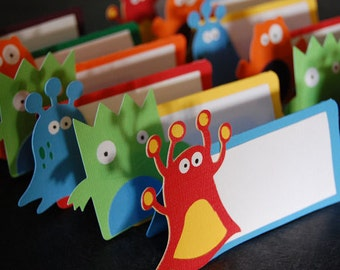 Monster Place Cards, Monster Seating Cards, Monster Mash, Monster Party, Monster Birthday, 12 Ps