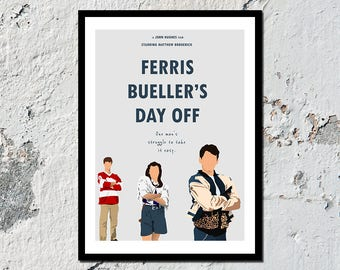 NEW & IMPROVED** Ferris Bueller's Day Off high quality film print (A5, A4, A3)