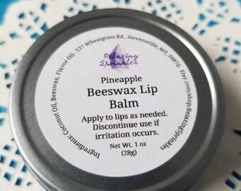 Beeswax Lip Balm- Pineapple- 1 oz tin