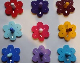 Kunderbunte coat hanger flower