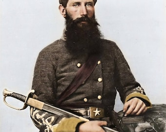 Officer Captain George W Hackworth of Co. F 1st Virginia Cavalry Regiment