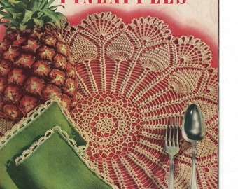 Pineapple Doilies- The Pick of the Pineapple -  Coats & Clark's No 287  9 Different Pineapple Doily Patterns  Circa 1952
