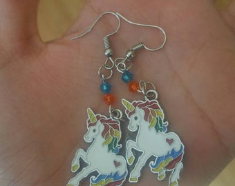 MLP My Little Pony Rainbow Unicorn Drop Earrings and/or Necklace Set