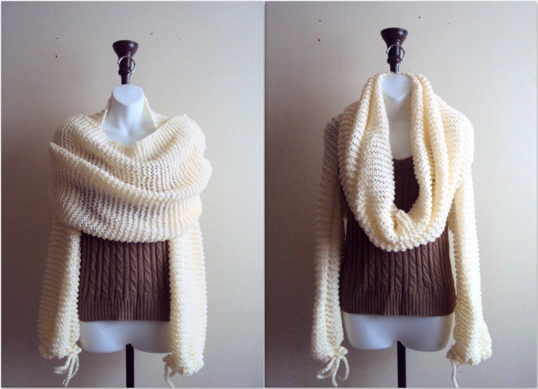 SALE Knit Wrap Around Shrug Cowl Tube Scarf Cowl Bolero