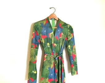 Warhol Style Floral Print Maxi Dress