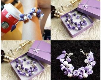 Polymer clay bracelet-05