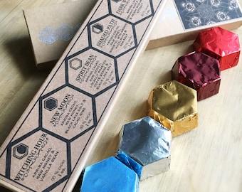 Ruche sauvage: Seule origine hexagone chocolat foncé brut Collection boîte-cadeau
