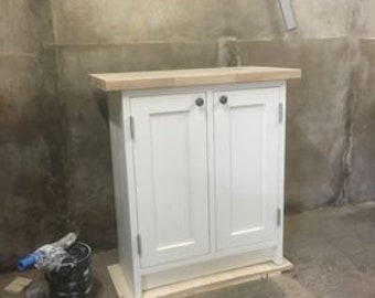 Solid Wood Freestanding 2 Shaker Door Unit Kitchen Furniture - available in a wide range of colours