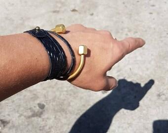 Gold Open Cuff Bracelet End Ball Bangle- Gold Ball Cuff Bangle- Thin Gold Cuff Bracelet- Adjustable Cuff Bracelet- Trendy Wholesale Bracelet
