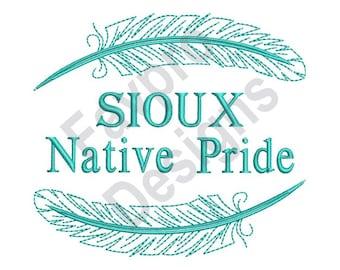 Native American Sioux Pride - Machine Embroidery Design