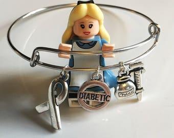 Diabetes charm bracelet