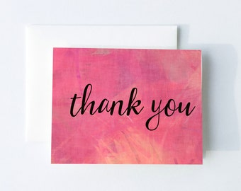 Thank You Card Printable - Instant Download - Watercolor Thank You Card - Artistic Thank You - Bridal Shower Thank You - Watercolor - BS9