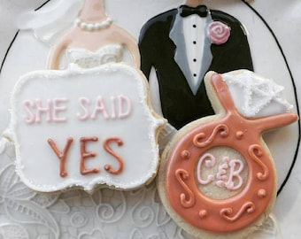 She Said Yes Engagement Cookies