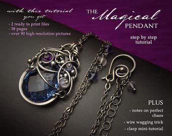 The Magical Pendant Tutorial by Iza Malczyk - layered wire wrapping project - instant download