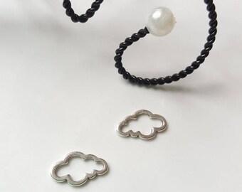 The cloud silver metal separator connector pendant