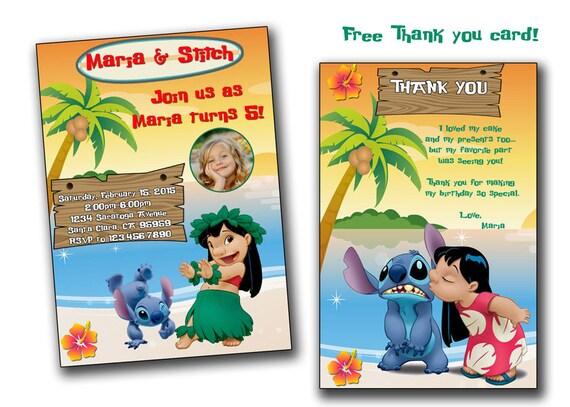 Lilo and Stitch invitationLilo and Stitch Birthday