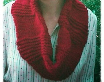 Red Snood, Cowl, Infinity Scarf