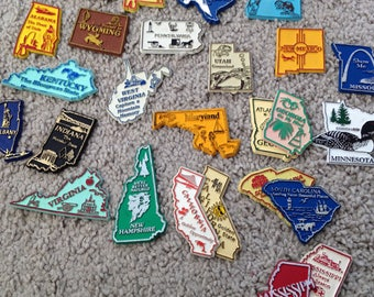 Pick Your Vintage State Magnet/Magnetic Collectibles