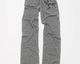 let me think on it Corgi Pants, Lounge Pants, Wide Leg Pants, S M L XL