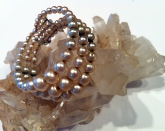 Fake Pearl Wire Bracelet