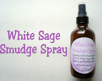 White Sage Smudge Spray, Sage Spray, Sage Cedar Spray, Sage Lavender Spray, Sage Cedar Smudge, Sage Lavender Smudge Spray, 4 oz Smudge Spray