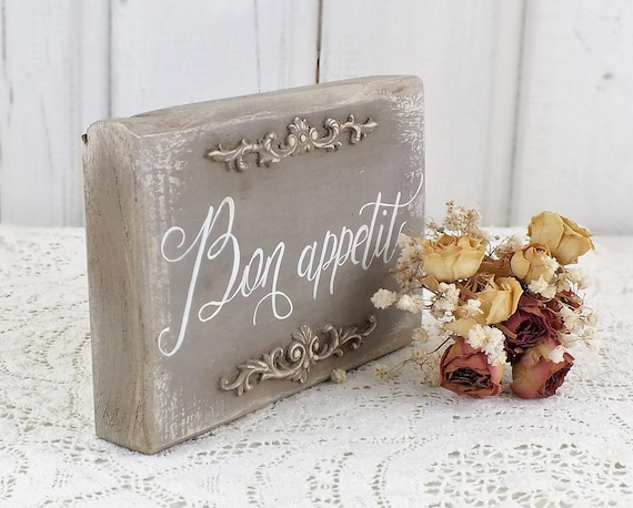 bon appetit sign french country kitchen decor vintage kitchen rh etsy com