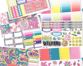 Bold Paisley - Weekly Planner Kit - Planner stickers for Erin Condren planners, Happy Planners and more!