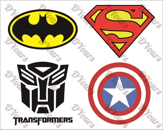 superheroes logos symbols batman superman transformers rh etsystudio com logo vector file logo vector clipart