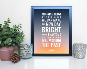 Pippin: Morning Glow, Musical Theatre, Broadway, Typography Printable, Instant Digital Download, Wall Art Print 8x10
