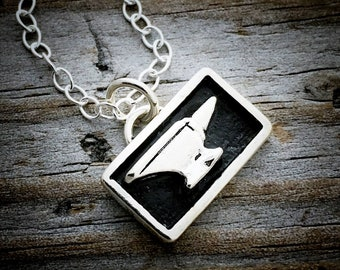 Sterling Silver Anvil Necklace Wild Prairie Silver Jewelry