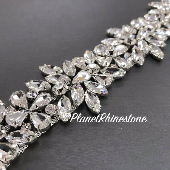Silver Rhinestone Trim #0135