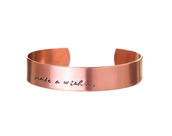 Gift Ideas for Her | Personalised Cuff Bracelet | Womens Gifts | Gold Cuff Bracelet | Rose Gold Cuff Bracelet (C004)