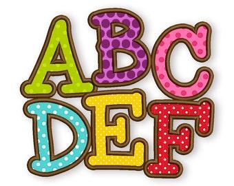 BX font included! Smarty Applique Alphabet Font Machine Embroidery Design 4 sizes  AL020