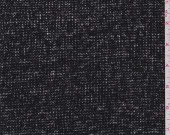Tuxedo Black Wool Blend Sweater Knit, Fabric By The Yard