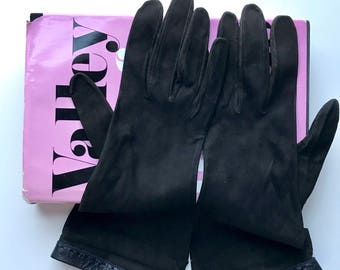 60s Formal Gloves, Vintage Gloves, 1960s, Black Gloves, 60s Gloves, Size Medium, Womens Gloves, Ladies Gloves, Driving Gloves