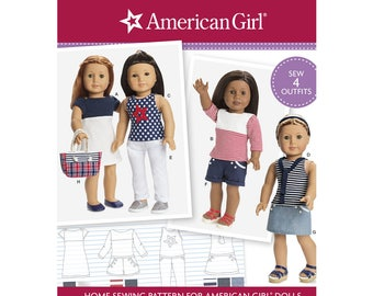 Simplicity 8397 Sewing Pattern American Girl or Any 18 Inch Doll Dress, Top Pants, Shorts Skirt, Bag Clothes New Uncut Sewing Pattern