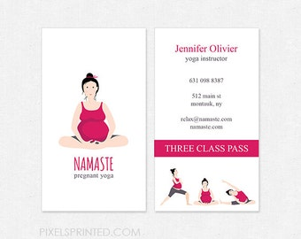 Pregnant yoga deluxe business cards thick color both sides pregnant yoga business cards thick color both sides free ups ground shipping reheart Image collections