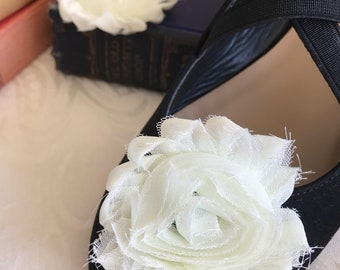 Regency style shoe roses/ flowers.