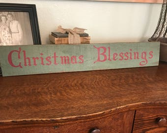 Christmas Blessings wood pallet sign