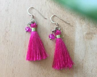 Tassel Earrings / Summer Earrings / Lots of Colors / Choose Your Color Earrings / Gold Fill Earrings / Boho / Hippie / Carmen