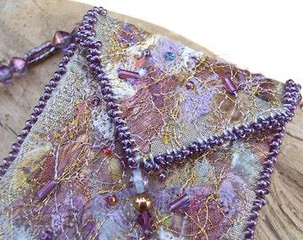 Amulet Bag / Necklace, Mauve