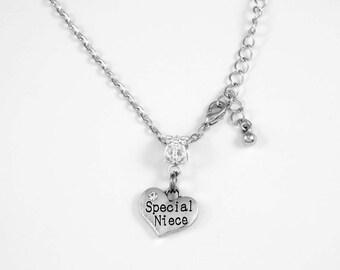 Special Niece Necklace Niece Jewelry Niece Diamond Cut Chain Necklace Special Family Niece Necklace