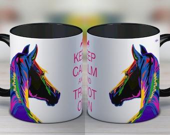 Gift for horse lover, horse, horse mug, horse gift, valentines, coffee mug, ceramic mug, funny mug, gift for women, tea cup, gift for her