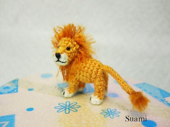 Little Amigurumi Lion : Miniature crochet lion micro mini amigurumi crochet tiny