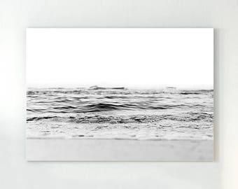 Ocean poster, ocean waves print, ocean wall art, ocean photo, ocean waves, ocean water print, scandinavian print, black and white art