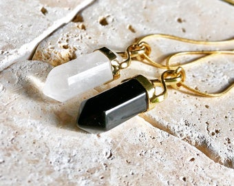 Friendship Pair Crystal Necklaces