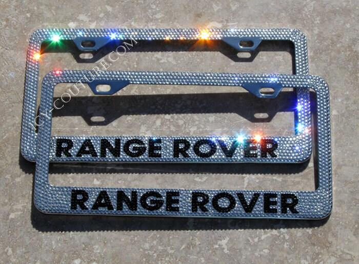 RANGE ROVER Custom Swarovski Crystal Bling License Plate Frame