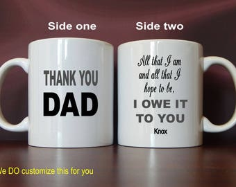 Daddy Gifts - Gift for Daddy - Personalized Daddy Gift from Daughter -Son - Fathers Day Mug Gift, MDA009