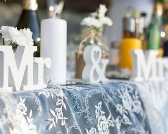 Mr and Mrs Sign Wedding Table Decoration Mr and Mrs Set Letter Sign Sweetheart table Photo Prop