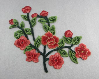 Embroidery Flower Appliques, Only Sew On